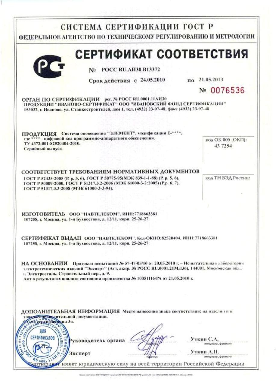 Сертификация в системе ГОСТ Р